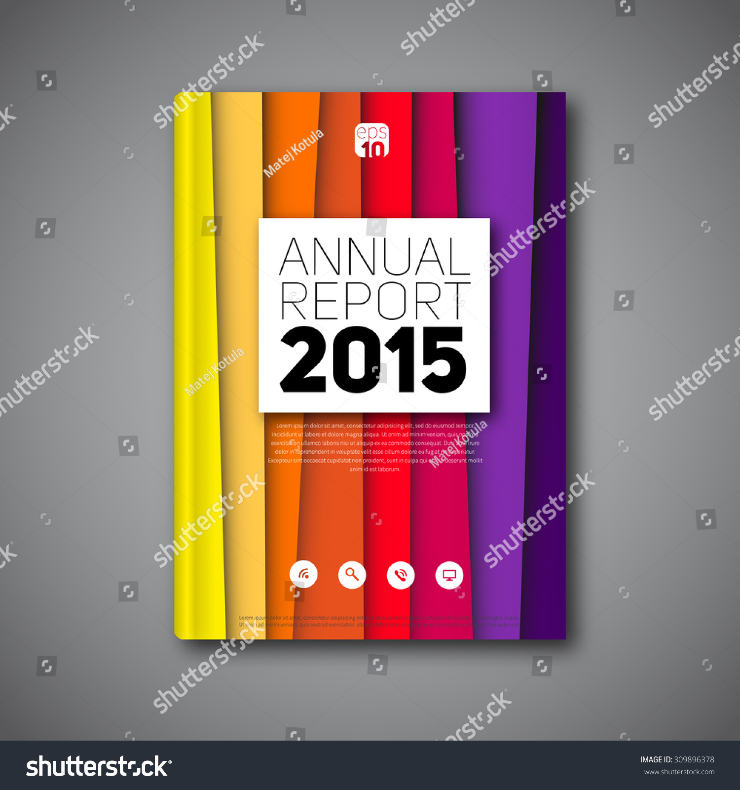 Abstract Modern Template Book Cover : Modern abstract lineart book cover brochure stock vector