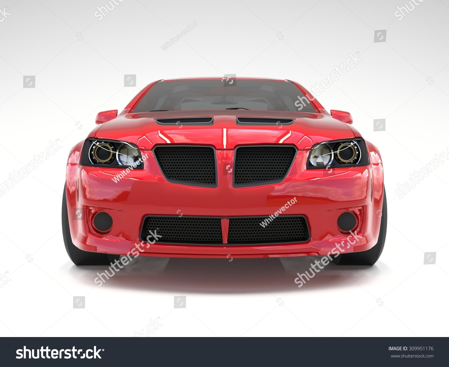 Sports Car Front View. The Image Of A Sports Red Car On A ...
