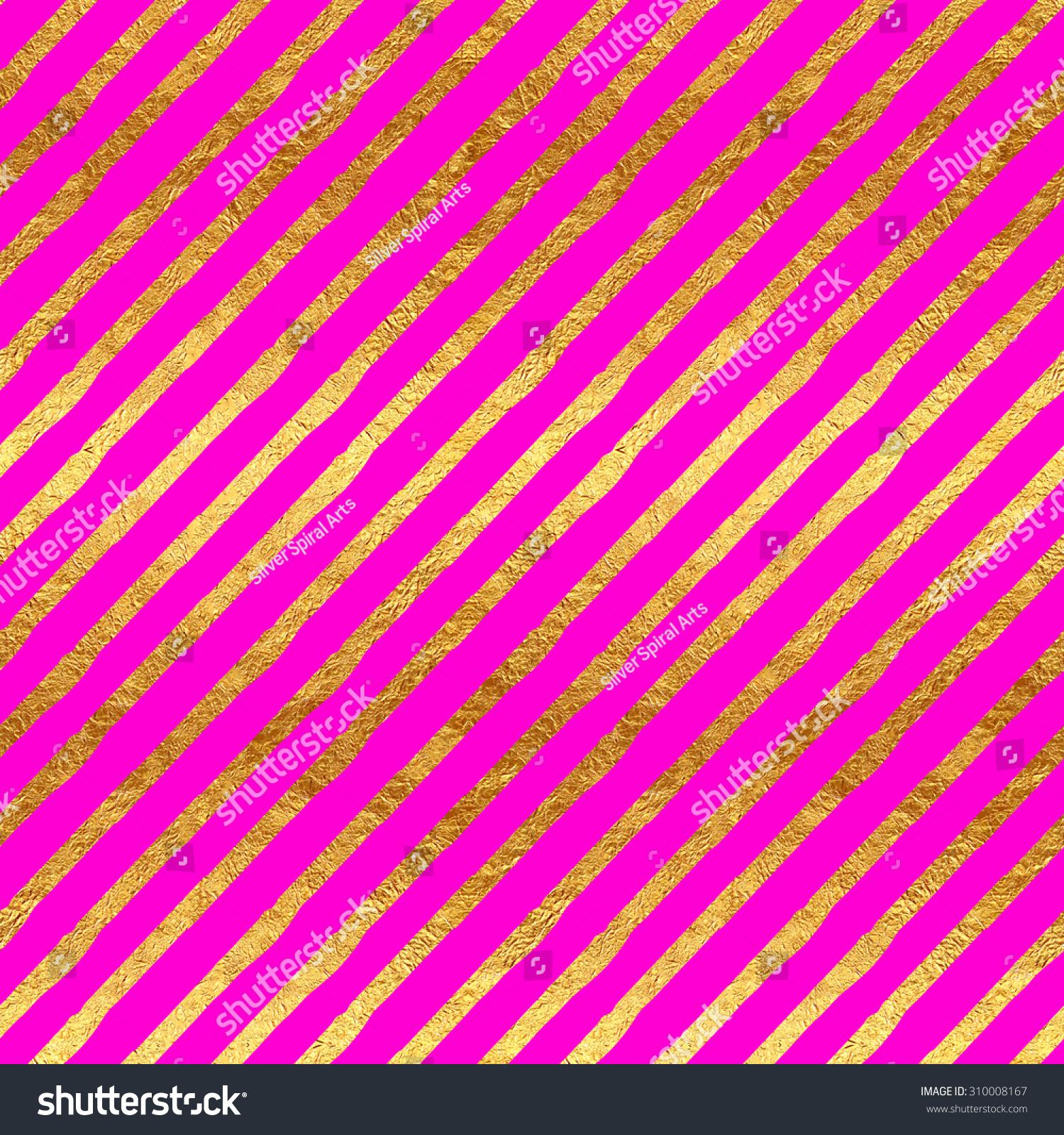 Gold Faux Foil Metallic Stripes Hot Stock Photo 310008167 ...