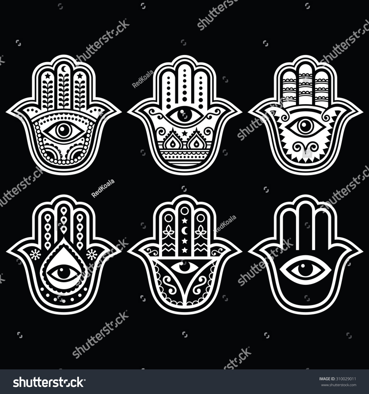 Devil Hand Symbols Demon Devil Hand Holding Blank Sign Stock