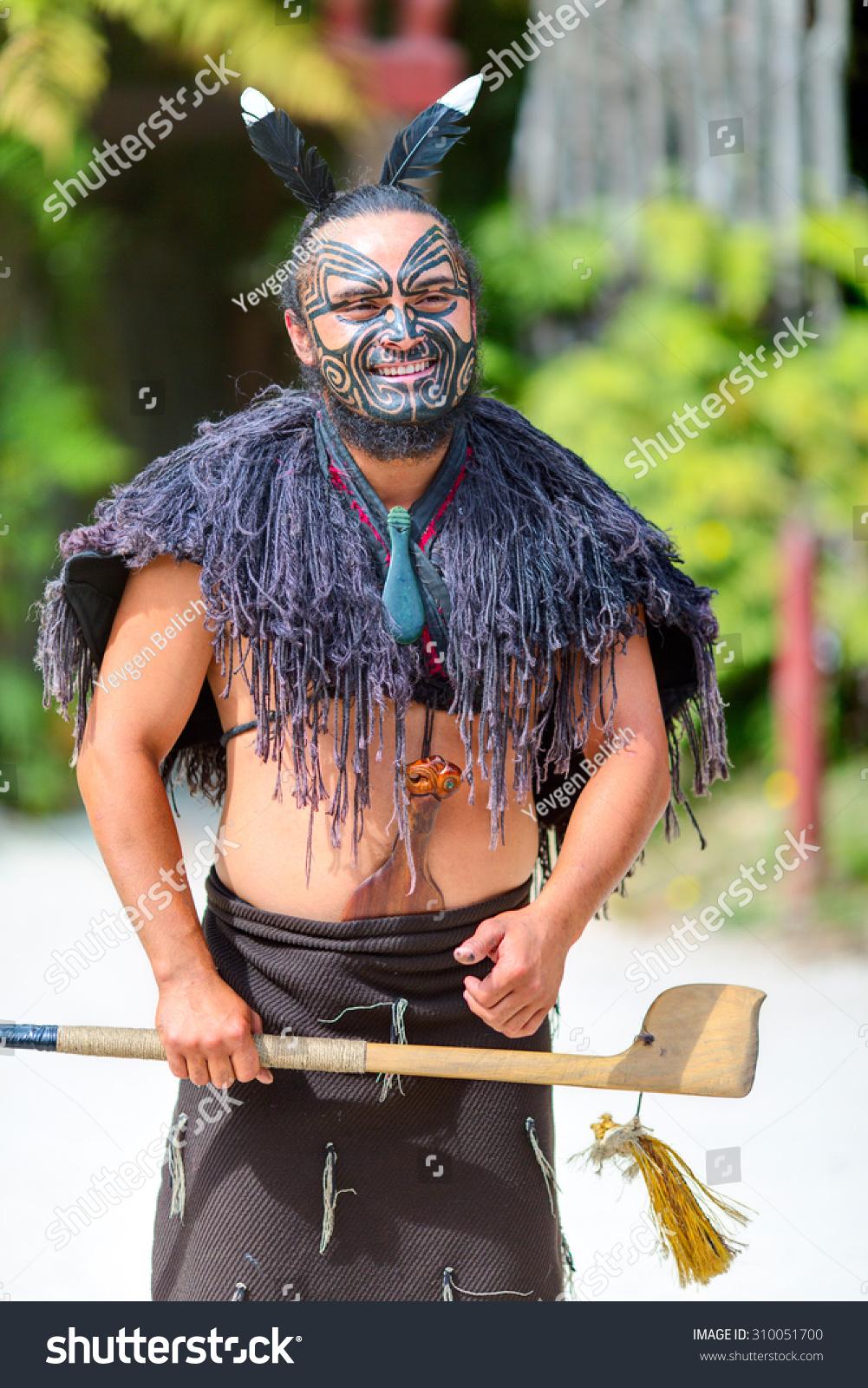 Maori Greeting New Zealand: 30 January 2015: Maori Tribes