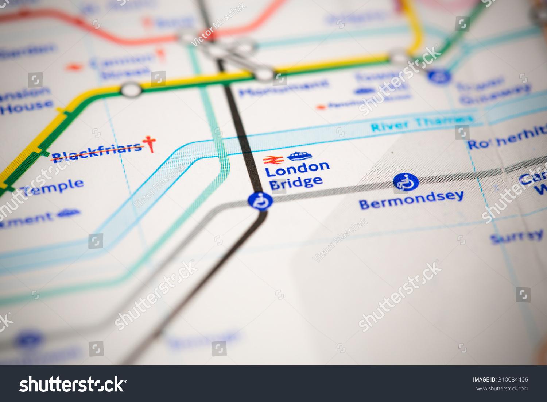 London Bridge Map.View London Bridge Station On London Stock Photo Edit Now