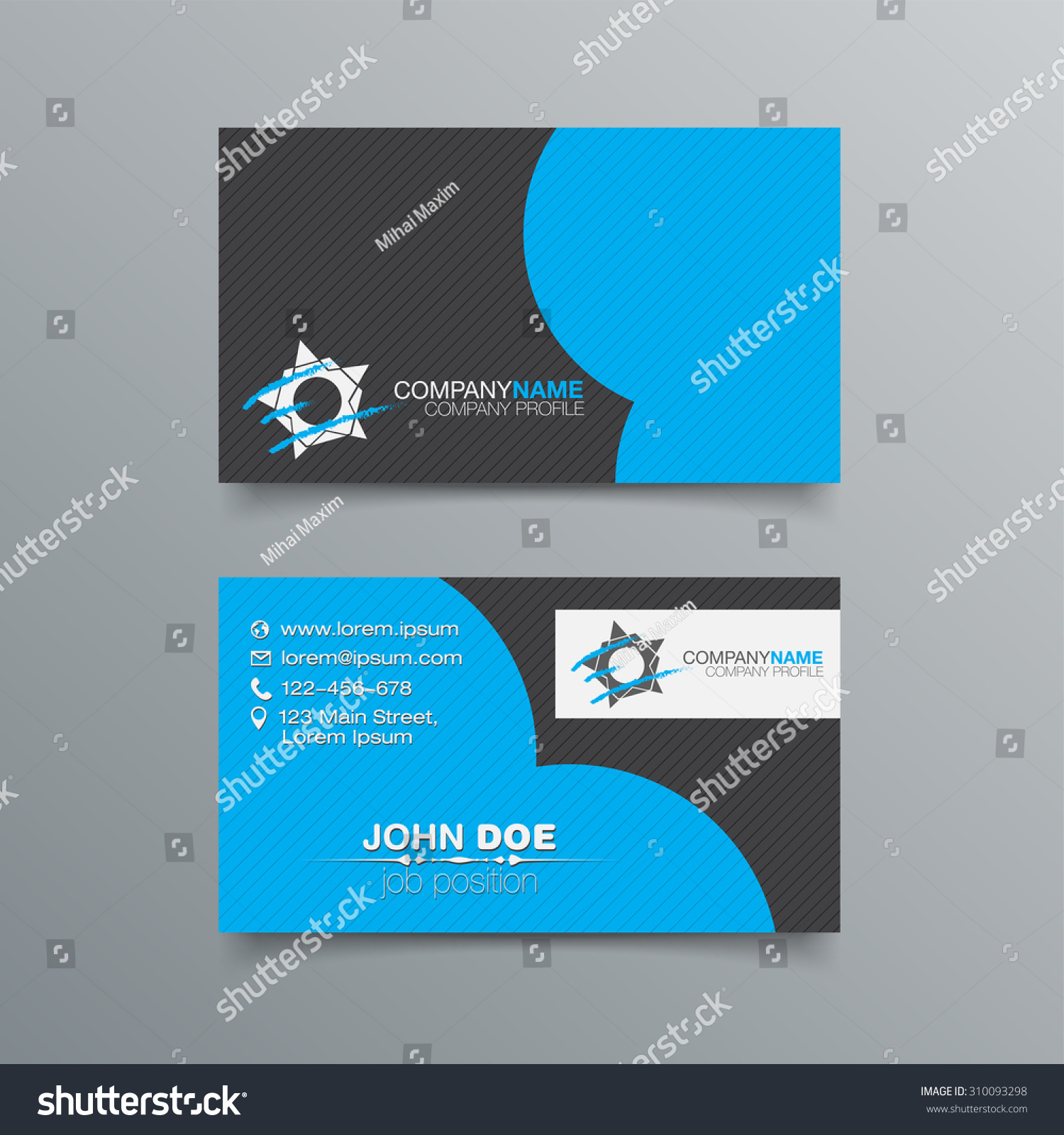Business card background templates a set of six corporate elegant business card background templates wajeb Images