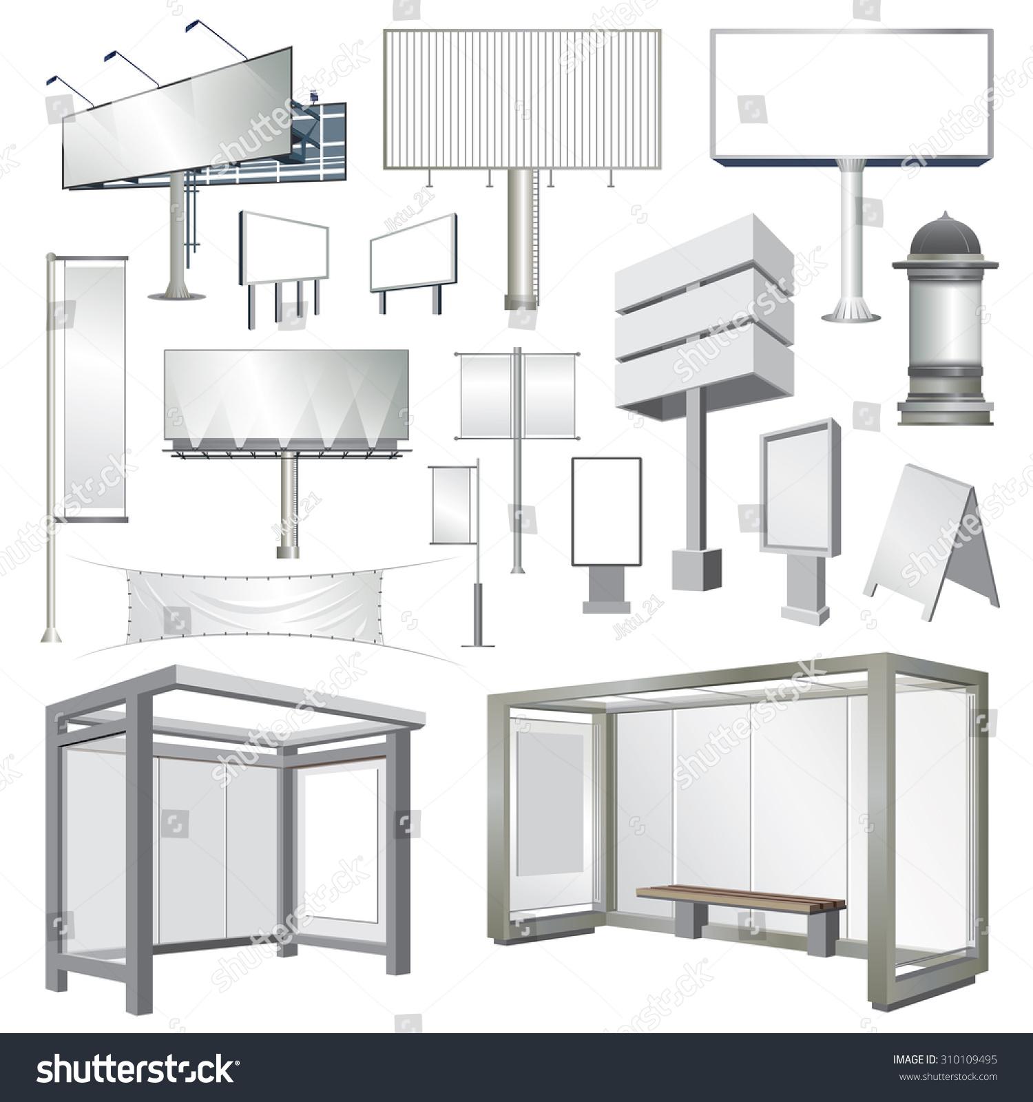 billboards outdoor advertisement templates stock vector 310109495 billboards and outdoor advertisement templates