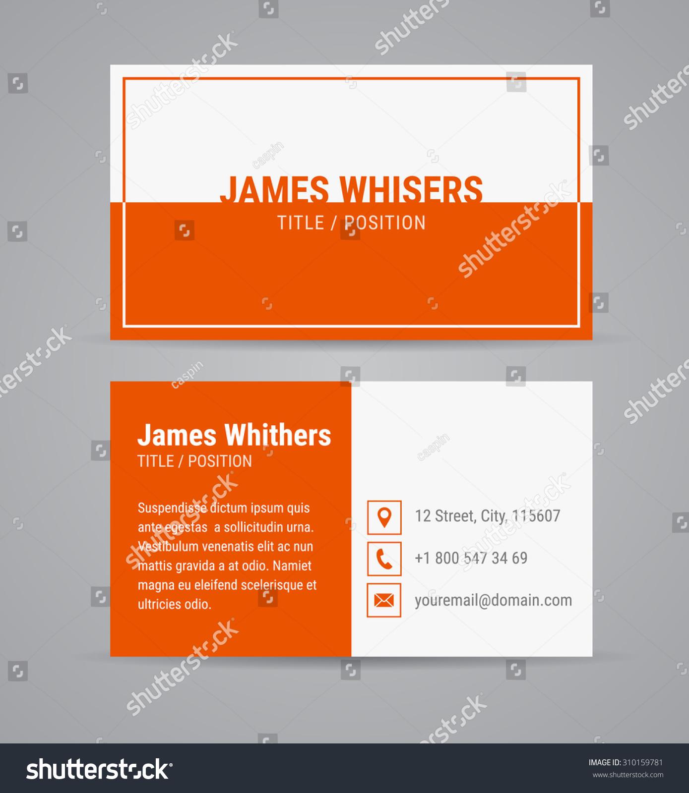 Vector modern clean business card design stock vector 310159781 vector modern clean business card design template set with orange background flat design magicingreecefo Choice Image
