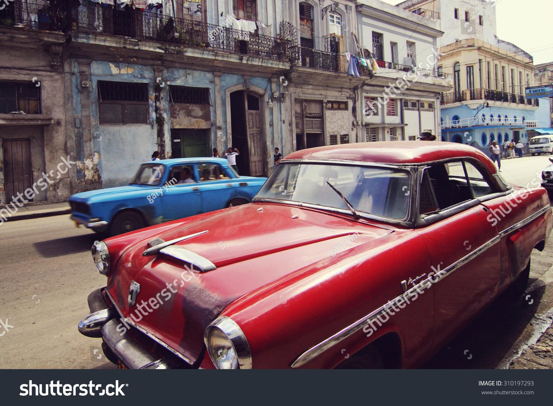 HAVANA CUBA FEB 22 Old Classic Stock Photo (Safe to Use) 310197293 ...