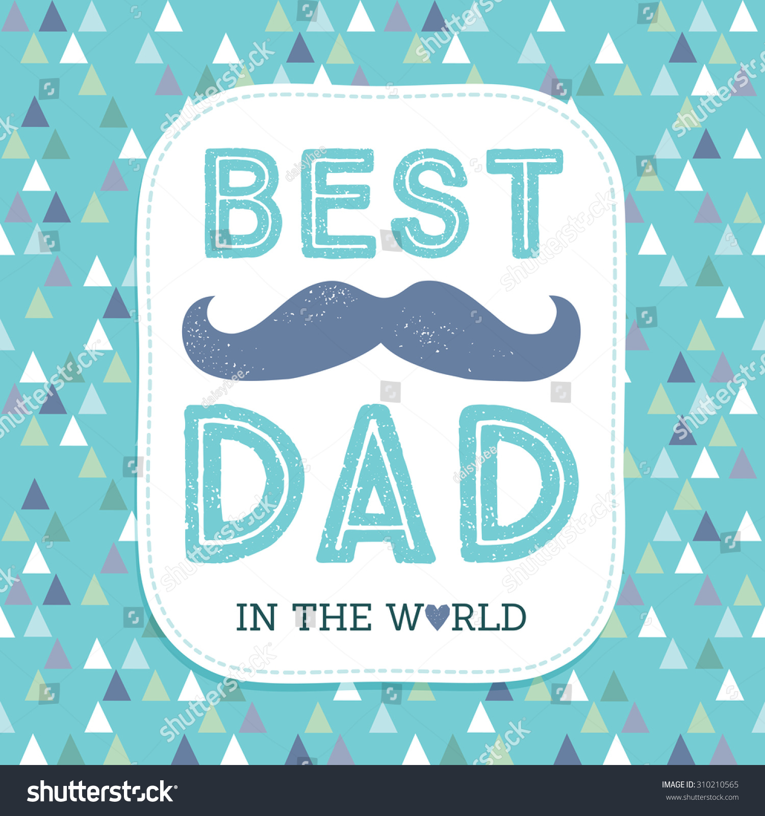Stock Vector Typographic Father