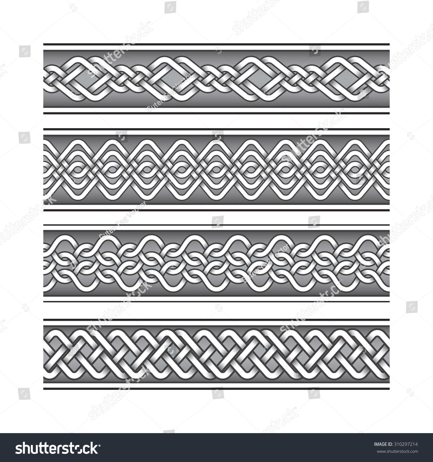 bracelet tattoo set celtic knotting pattern stock vector 310297214 shutterstock. Black Bedroom Furniture Sets. Home Design Ideas