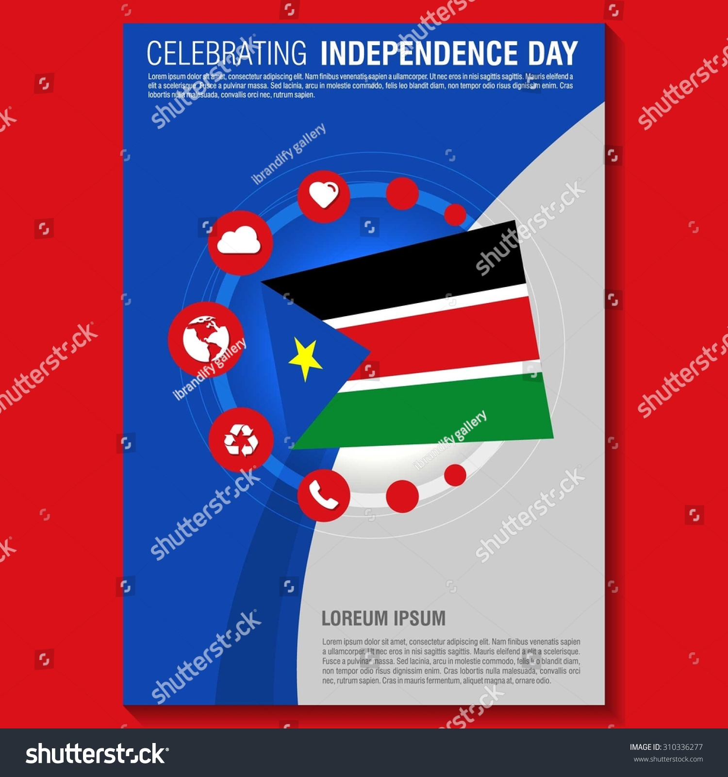 vector south sudan independence day flyer stock vector  vector south sudan independence day flyer template creative brochure title page national day leaflet