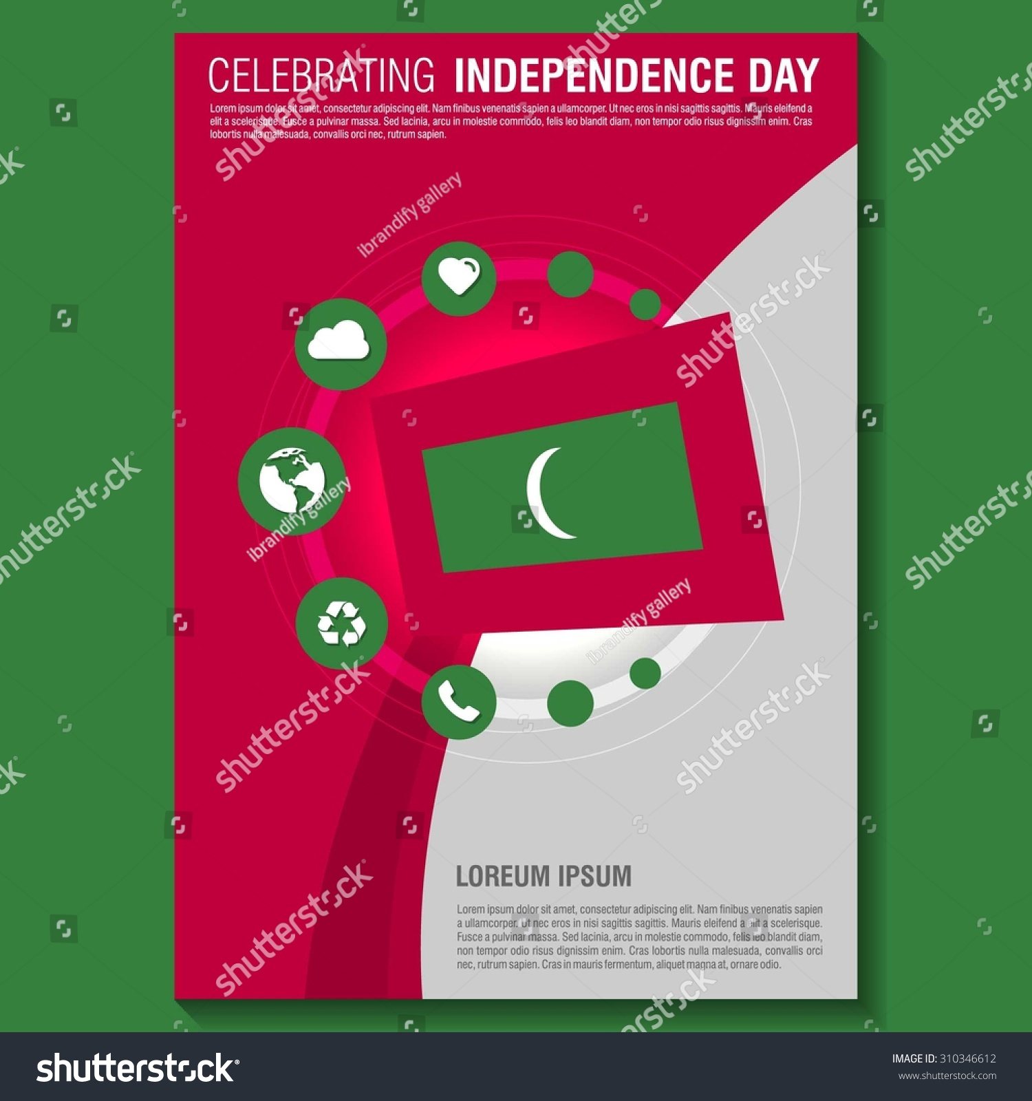 vector independence day flyer template creative brochure creative brochure title page national day leaflet design preview save to a lightbox
