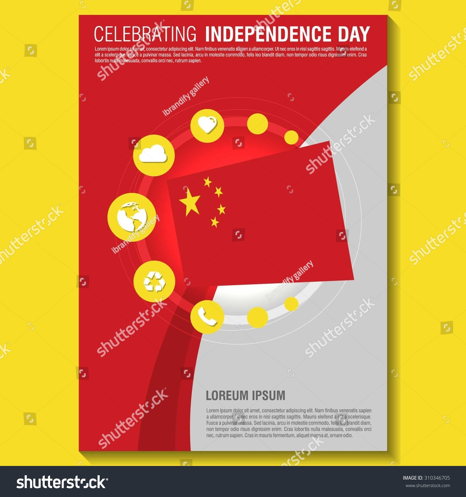 vector independence day flyer template stock vector vector independence day flyer template creative brochure title page national day leaflet design
