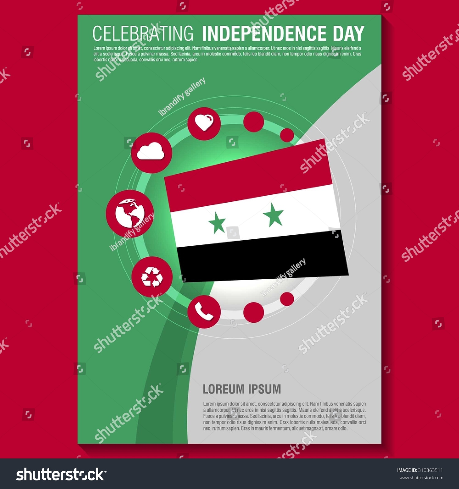 vector syria independence day flyer template creative brochure creative brochure title page national day leaflet design preview save to a lightbox