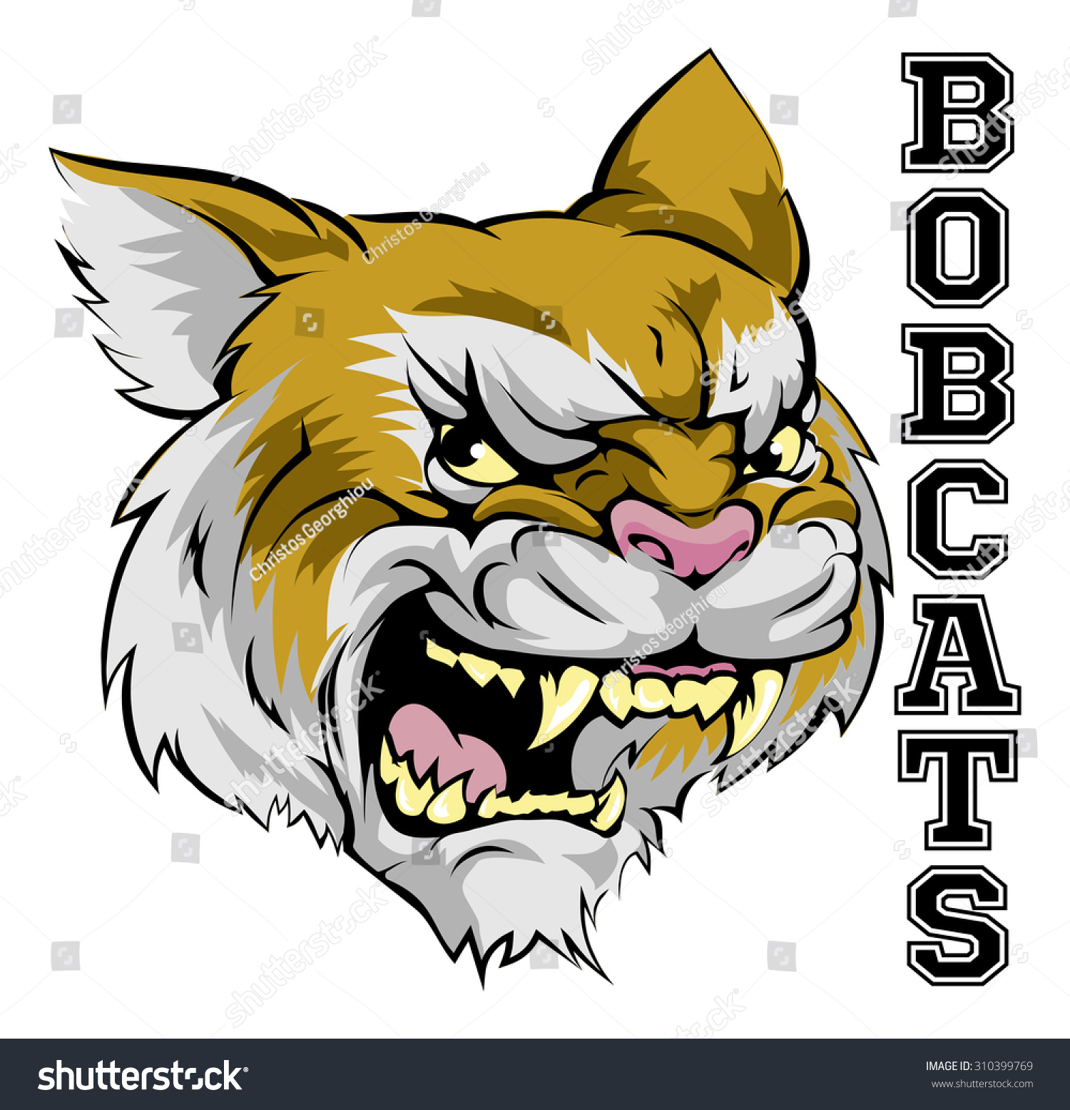 Illustration Cartoon Bobcat Sports Team Mascot Stock Vector Royalty Free 310399769