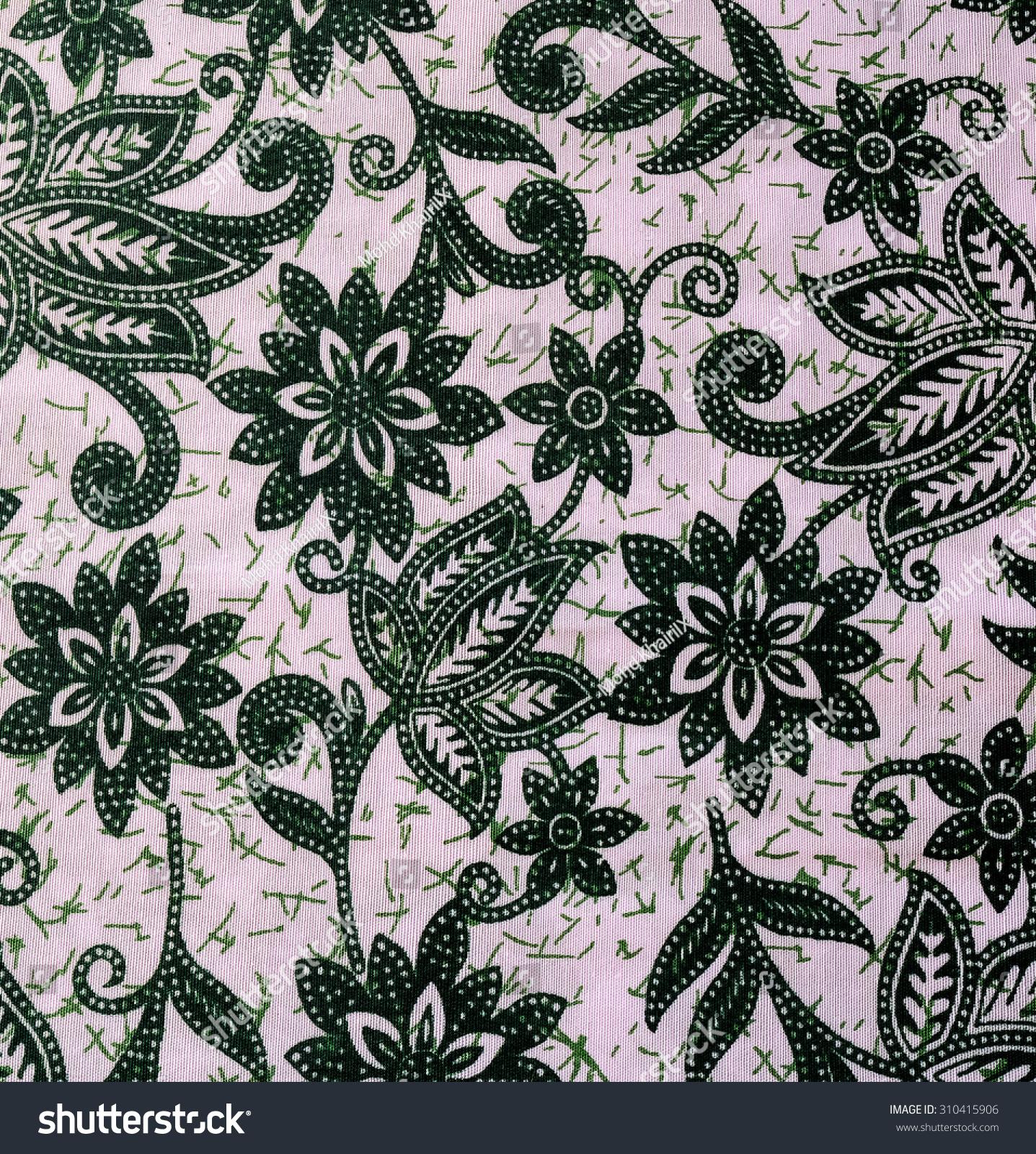 Pattern Traditional Clothes Malaysia Batik Texture Stock