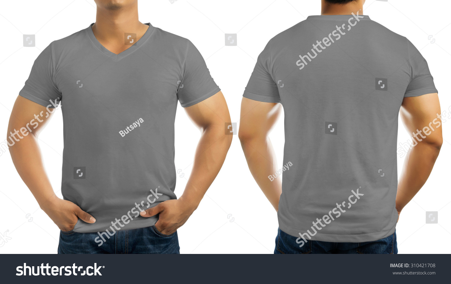 of muscle man posing in studio in black t shirt isolated