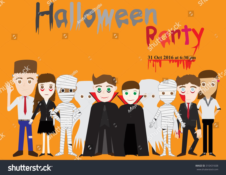 Vector Illustration Halloween Costume Halloween Party Stock Vector 310431608 - Shutterstock  sc 1 st  Shutterstock & Vector Illustration Halloween Costume Halloween Party Stock Vector ...