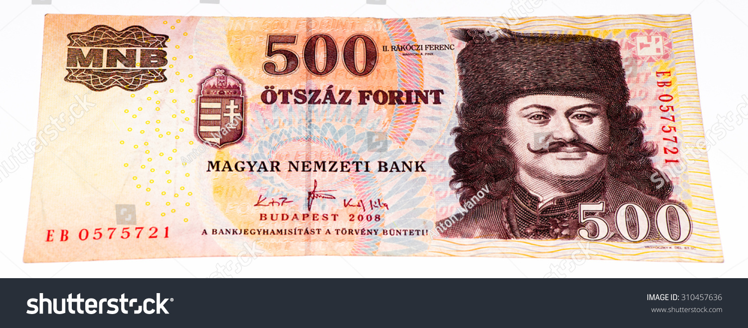 500 Hungarian forints bank note. Hungarian forint is the national ... 7486084f50