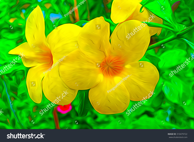 Royalty free stock illustration of oil painting big yellow flowers oil painting big yellow flowers in the garden mightylinksfo