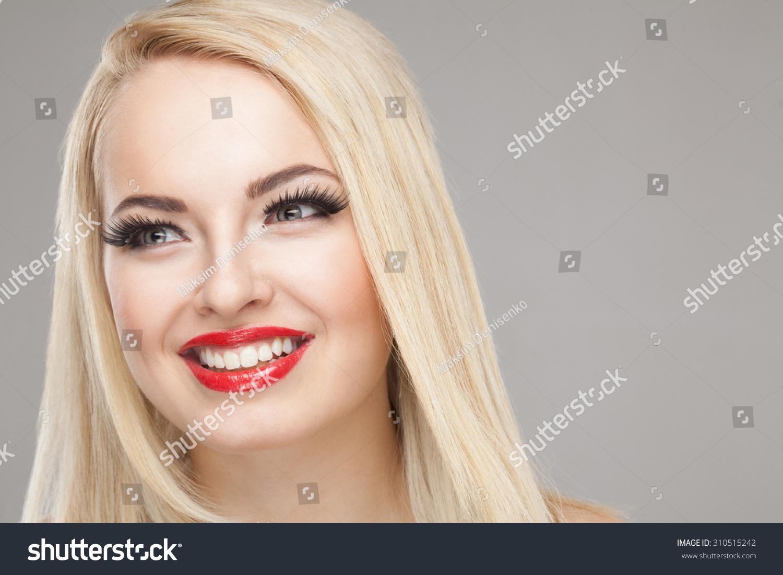 Fashion Stylish Beauty Portrait Smiling Beautiful Stock Photo Edit
