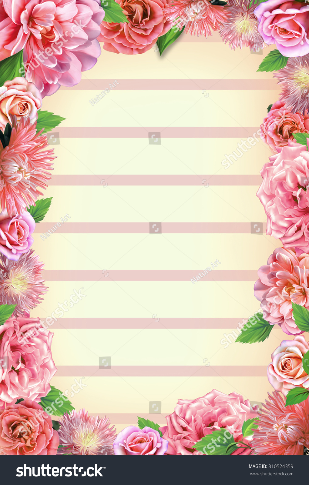Wedding Vintage Romantic Background Roses Camellia Stock ...