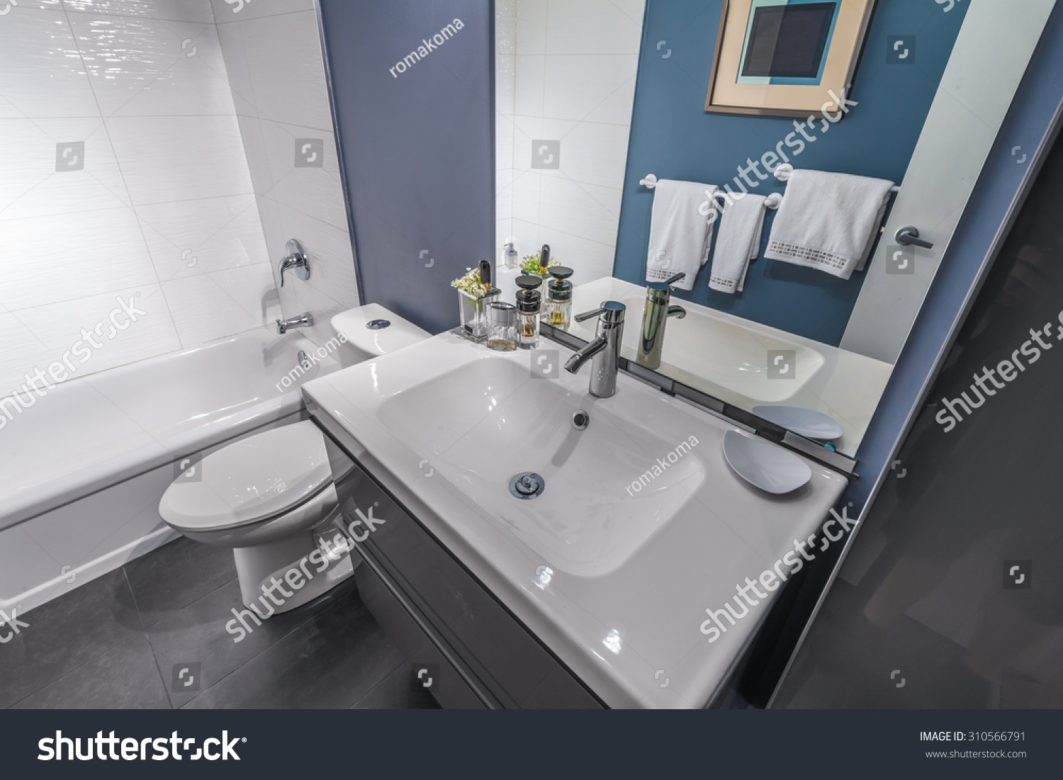 Nicely decorated modern washroom bathroom with the - Nicely decorated bathrooms ...