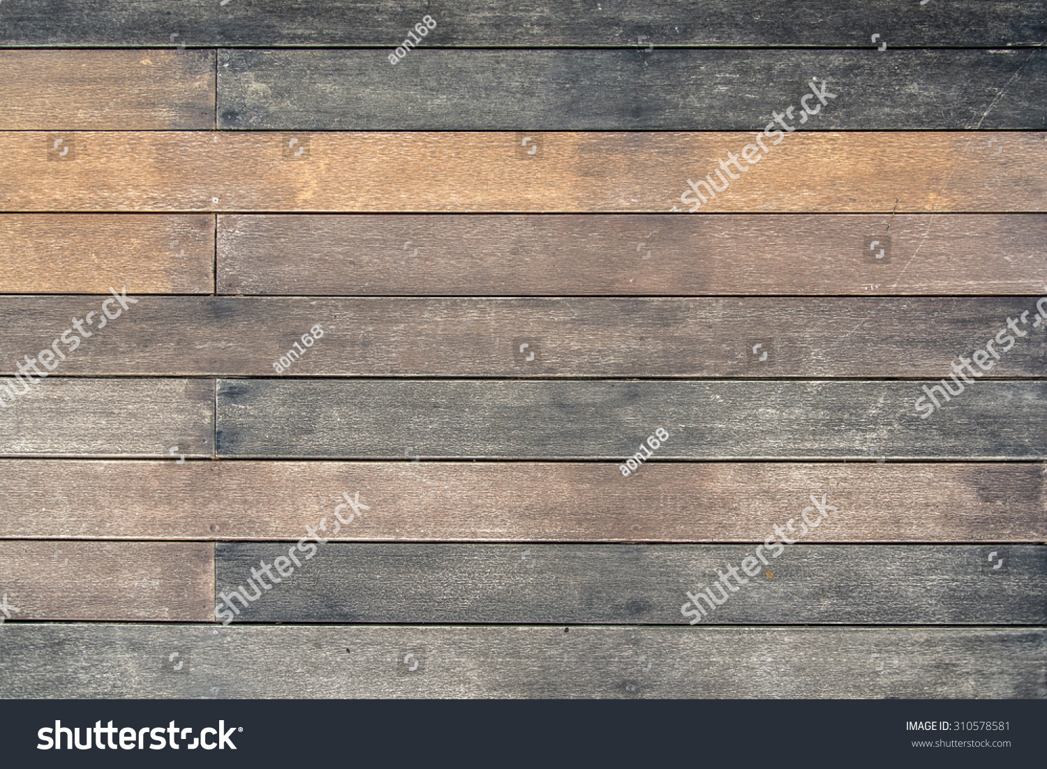 Wood Texture Background Floor Terrace In Random Vintage Earthtone Color