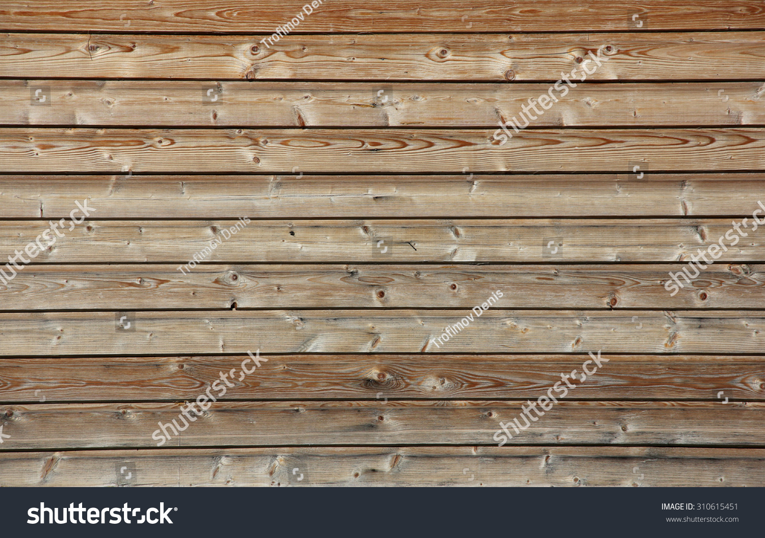 Many of horizontal wooden planks with no paint texture