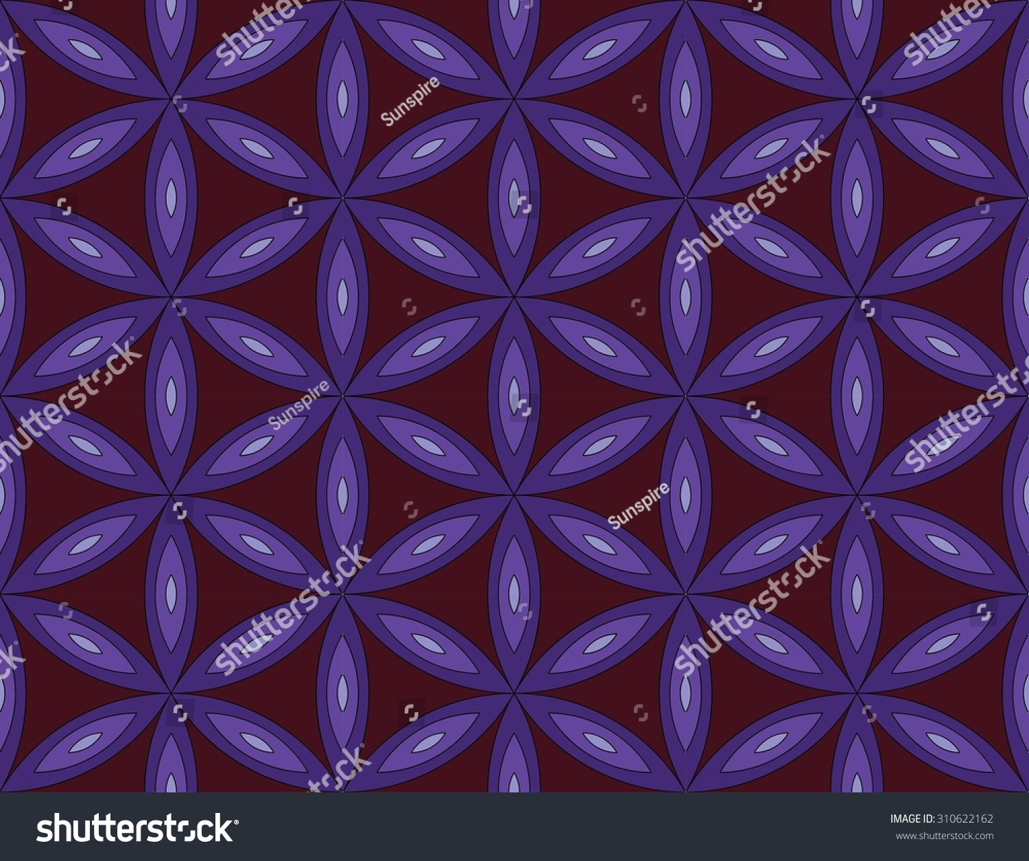 Bed sheet designs texture - Vector Modern Seamless Pattern Sacred Geometry Colorful Background Flower Of Life Textile Print