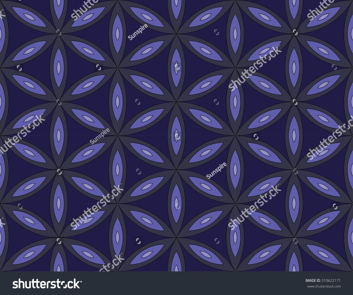 Vector modern seamless pattern sacred geometry colorful background flower of life textile print abstract texture fashion design bed sheets or pillow pattern