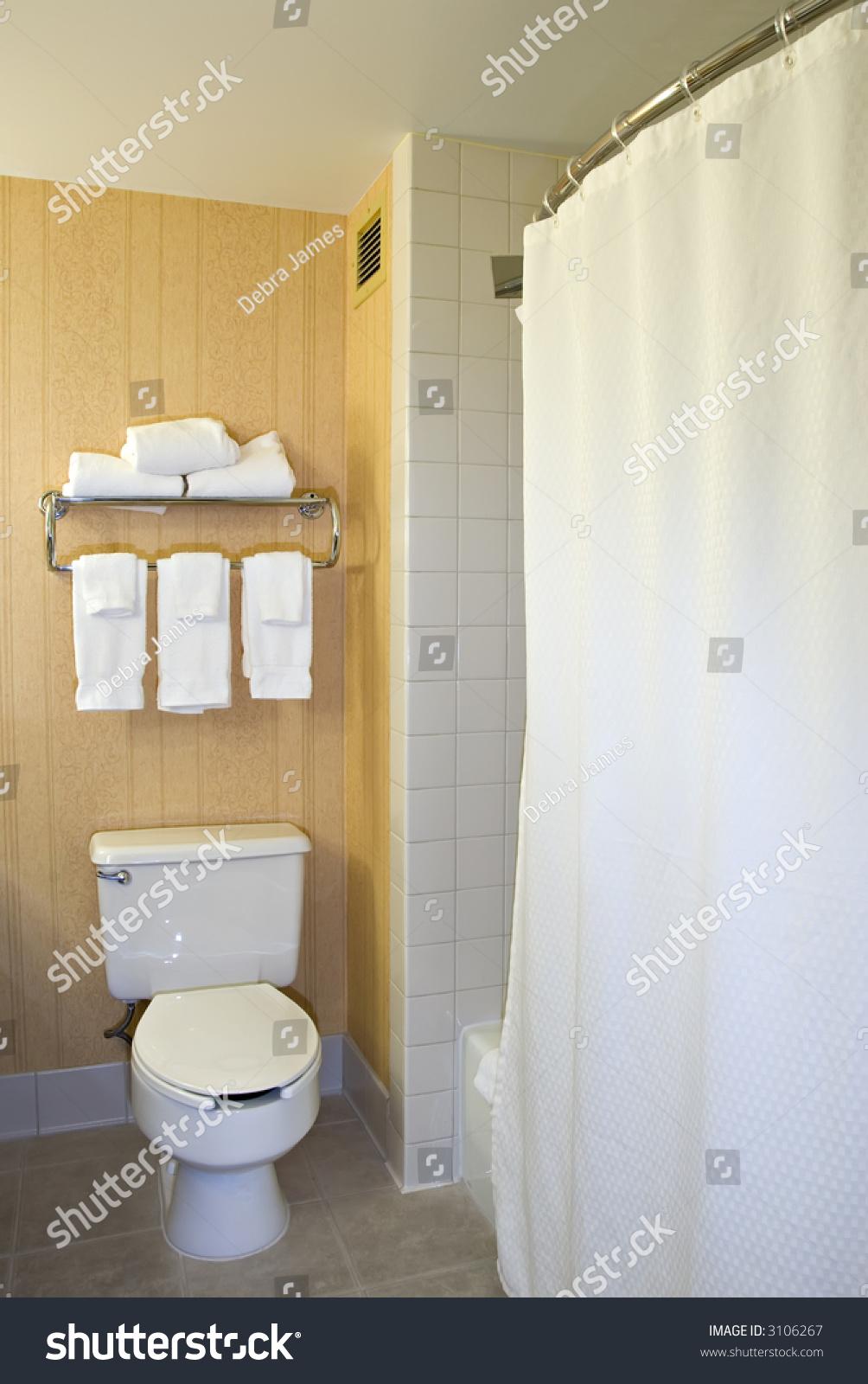 Toilet Towel Rack Shower Stock Photo (Royalty Free) 3106267 ...