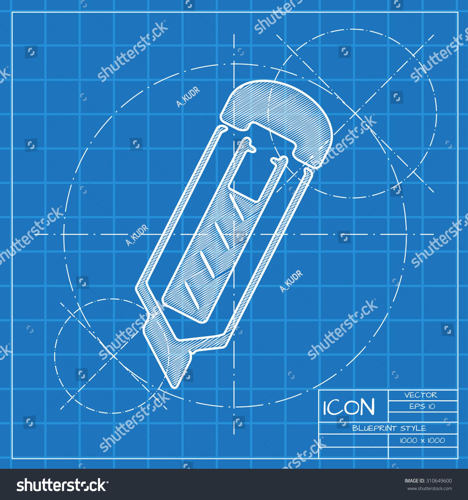 Vector blueprint knife icon engineer architect stock vector vector blueprint knife icon engineer and architect background malvernweather Choice Image