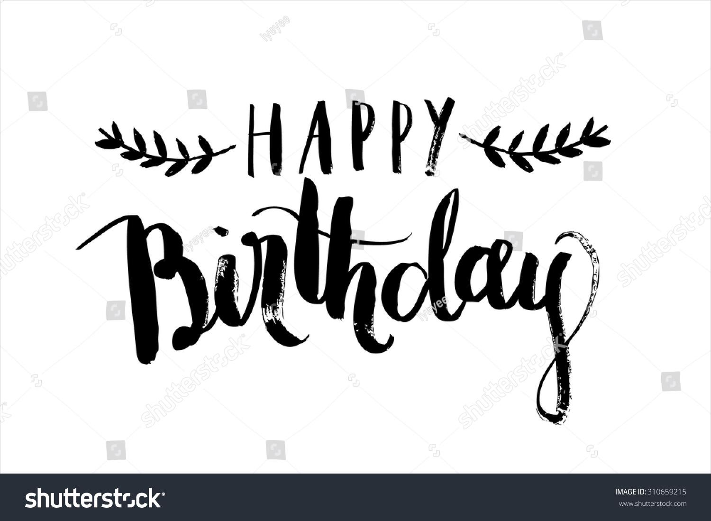 Happy birthday calligraphy vector stock