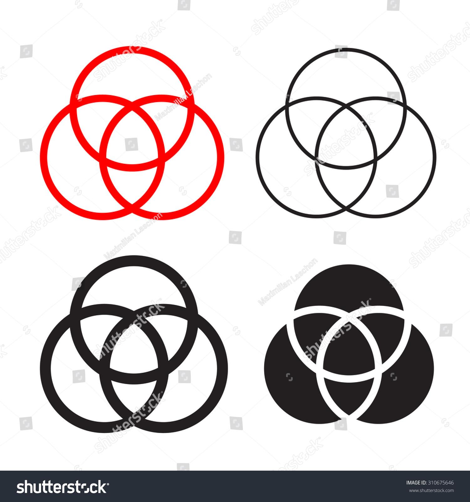 Catholic Holy Trinity Symbols Stock Illustration 310675646