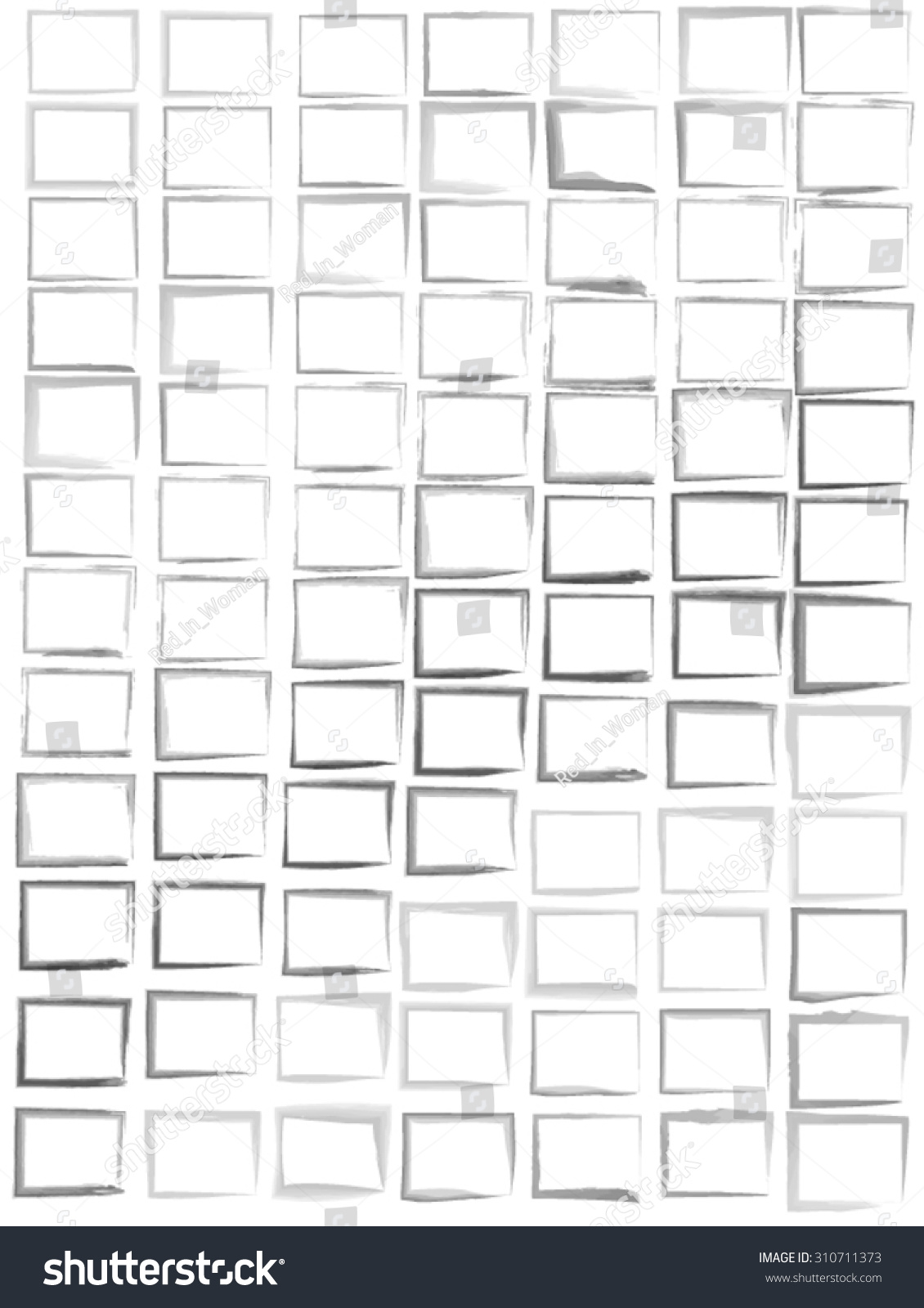 Background image transparency - Set Of Square Black Watercolor On White Background Different Thickness Transparency And Shape