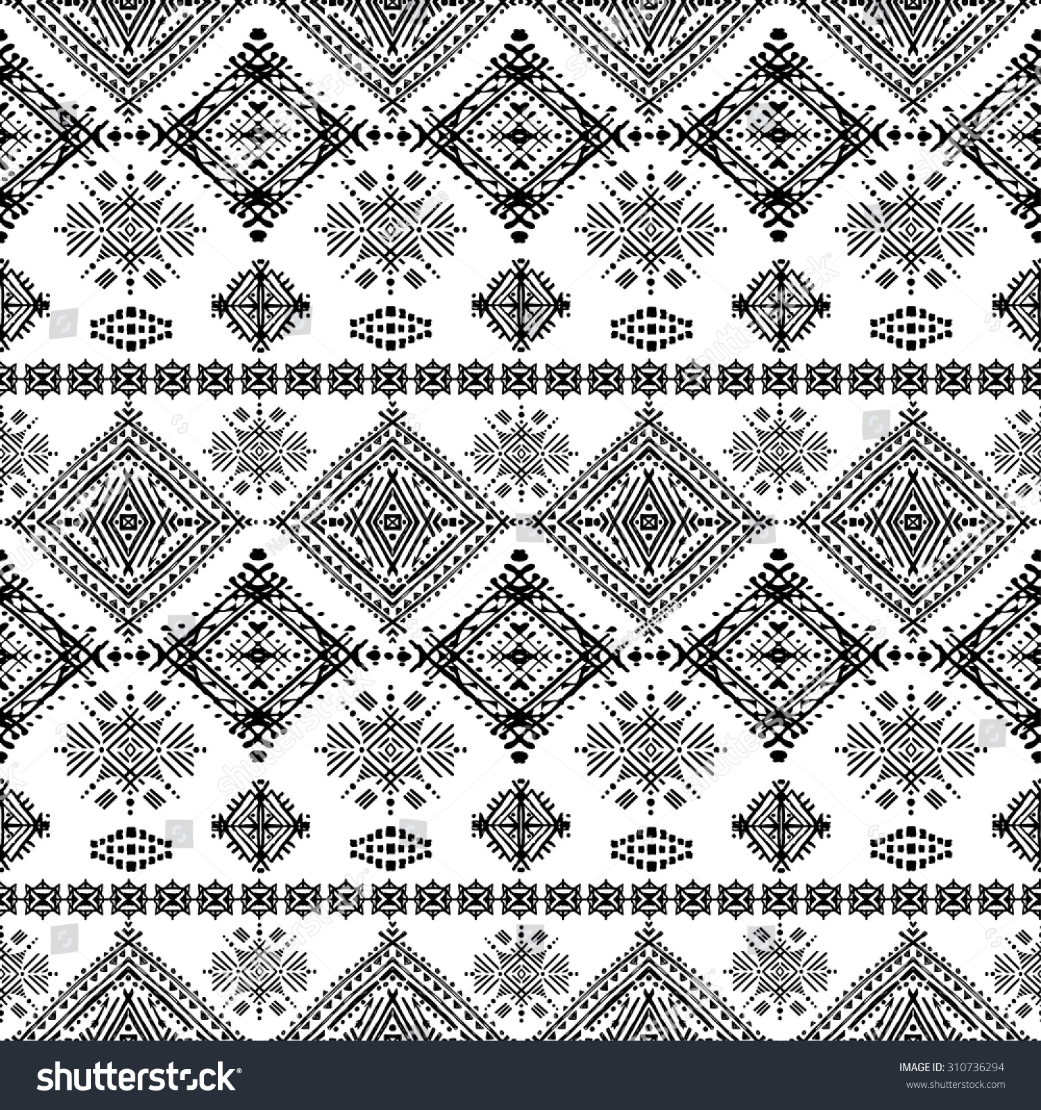 Ethno seamless ornament Ethnic boho repeatable pattern Tribal art background Fabric design wallpaper wrapping