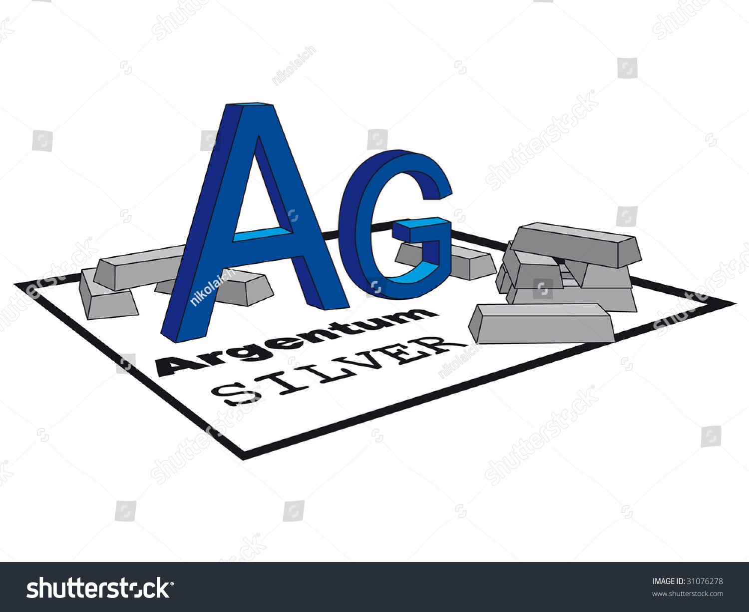 Symbol silver periodic table image collections periodic table images periodic table silver choice image periodic table images silver symbol periodic table ingots vector stock vector gamestrikefo Images