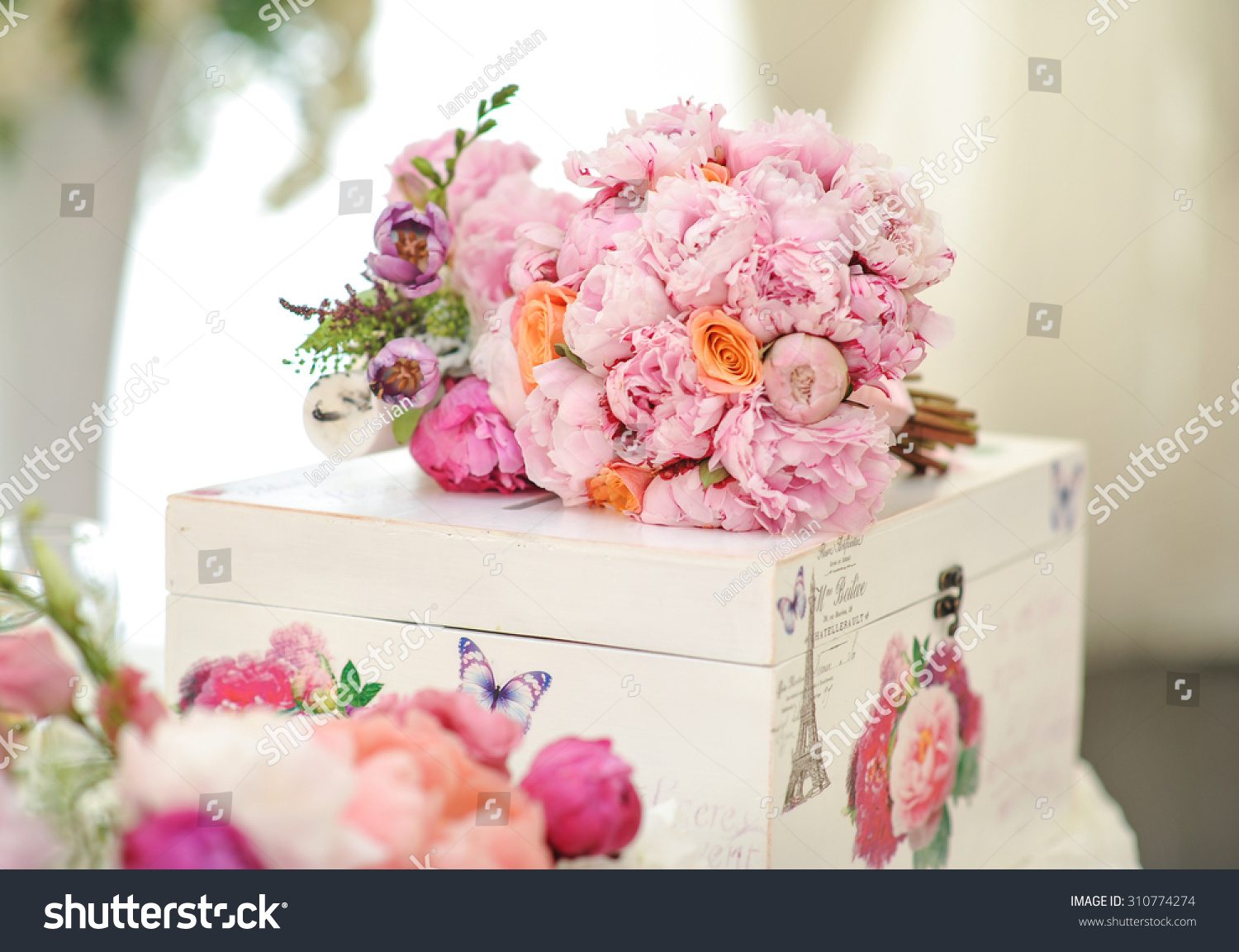 Royalty Free Wedding Decoration On Table Floral 310774274 Stock