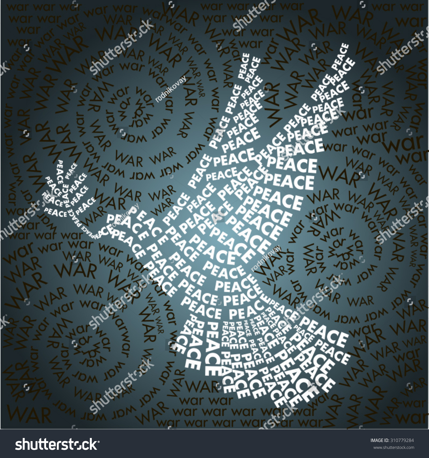 Wallpaper Of Peace: Dove Peace Words Background Word War Stock Vector