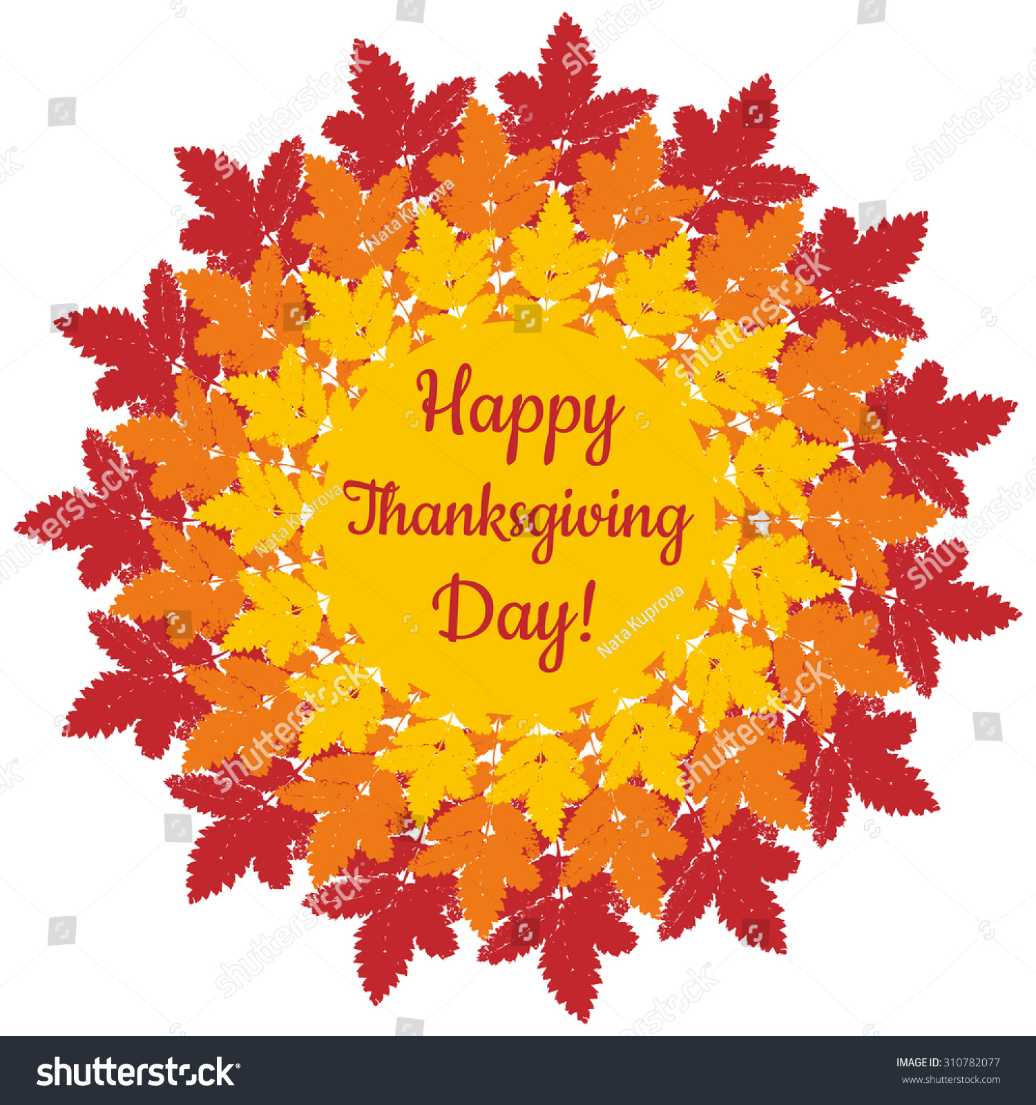 Happy Thanksgiving Day Mandala Banner Sticker Stock Vector ...