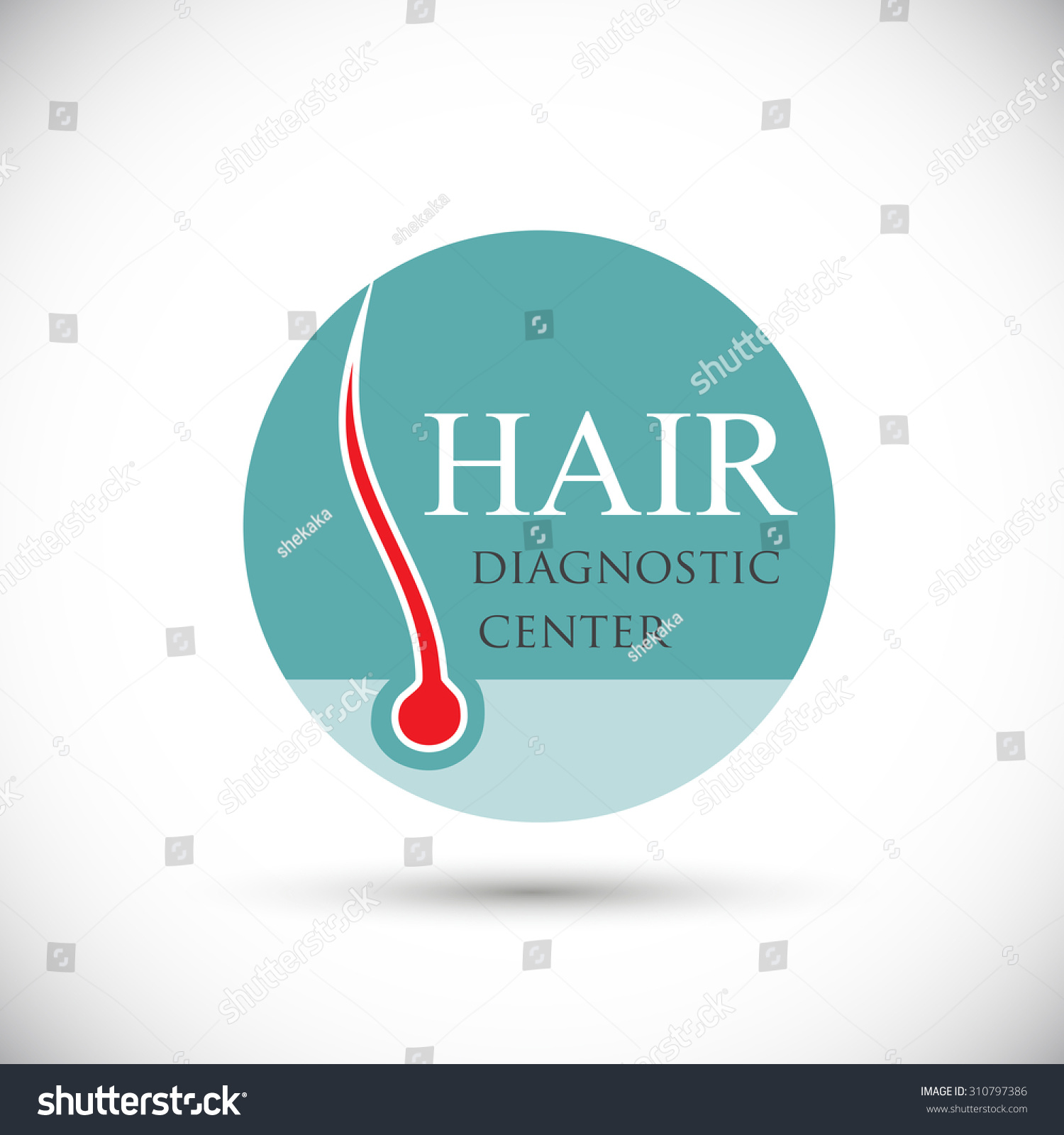 Health And Beauty Aids: Red Core Hair Follicle Icon Vector Stock Vector 310797386