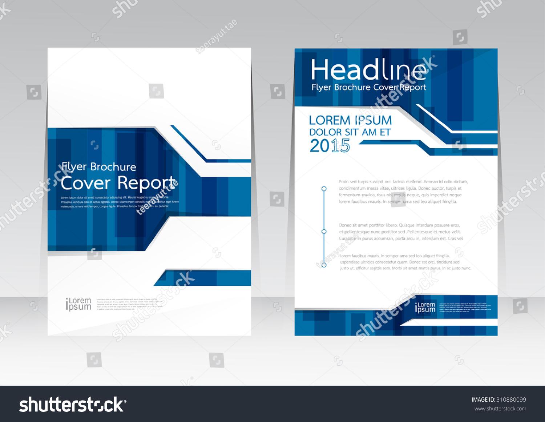 Vector Design Cover Report Brochure Flyer Stock Vector 310880099 ...