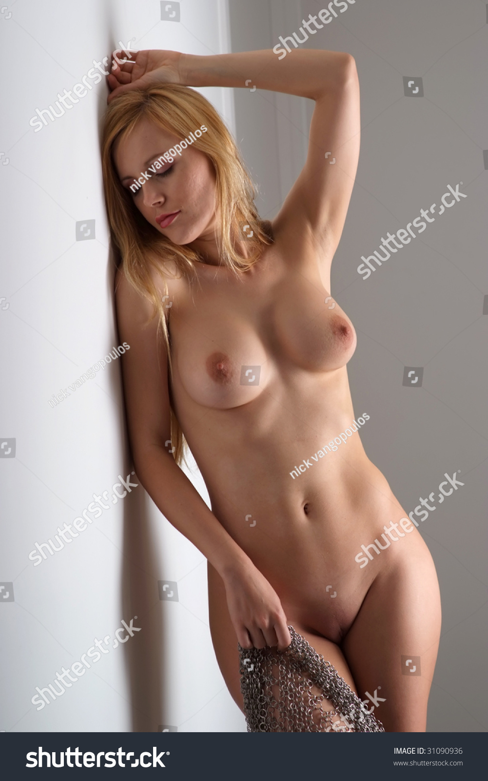 naked woman striping