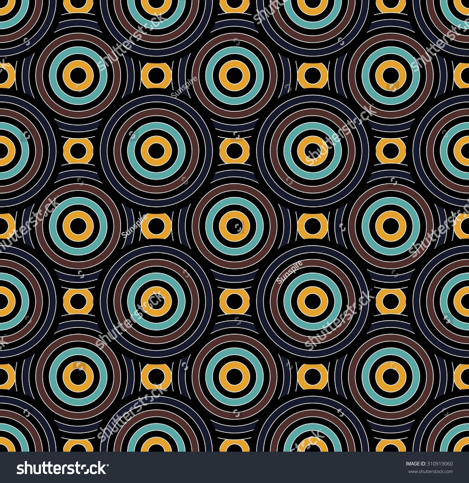 Bed sheets designs texture - Vector Modern Seamless Pattern Circles Colorful Background Textile Print Abstract Texture Fashion