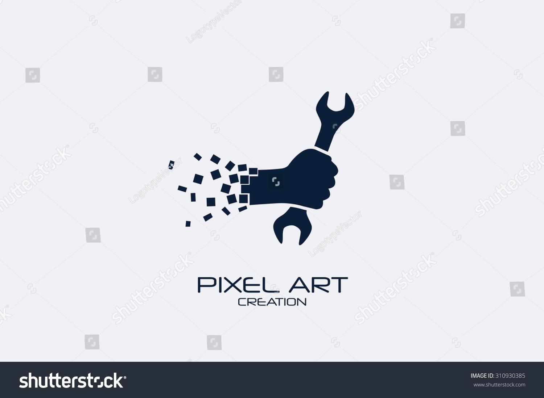 Design car repair workshop - Pixel Art Design Of The Car Repair Logo