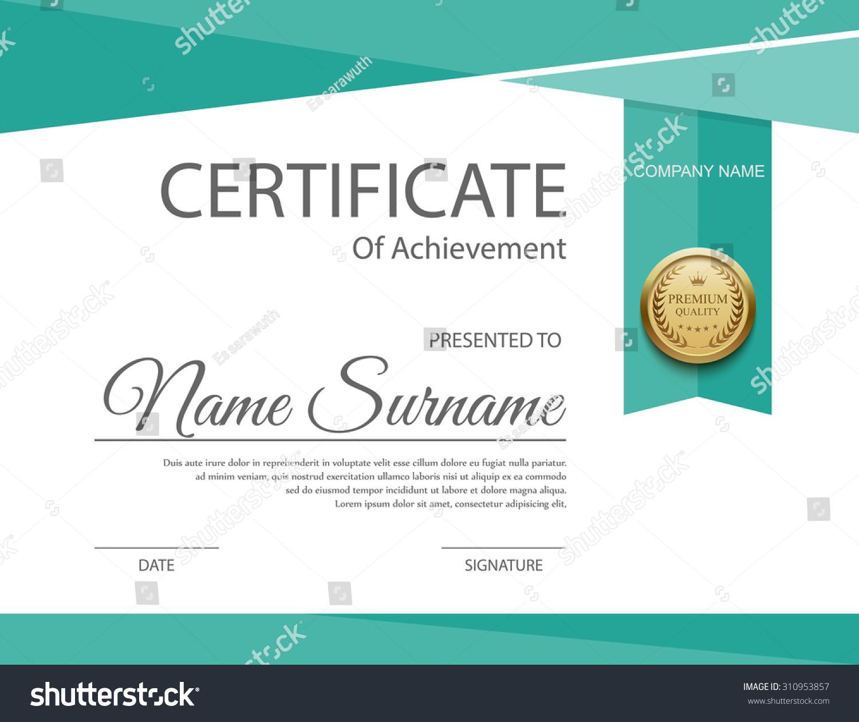 vector certificate template stock vector 310953857 vector certificate free download vector certificate background