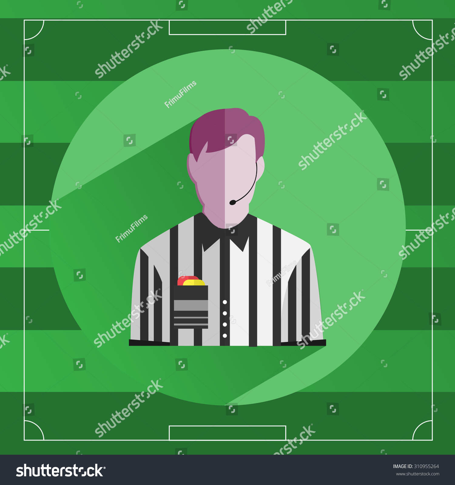 Referee Icon Referee Striped Shirt Red Stock Vector (Royalty Free In Soccer Referee Game Card Template