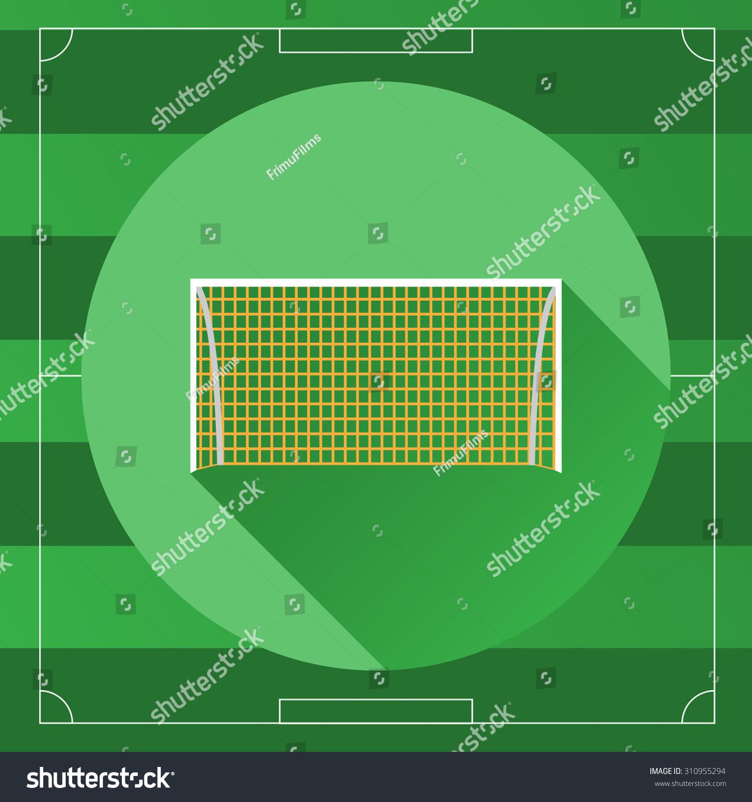 soccer goal icon on game field stock vector 310955294 shutterstock