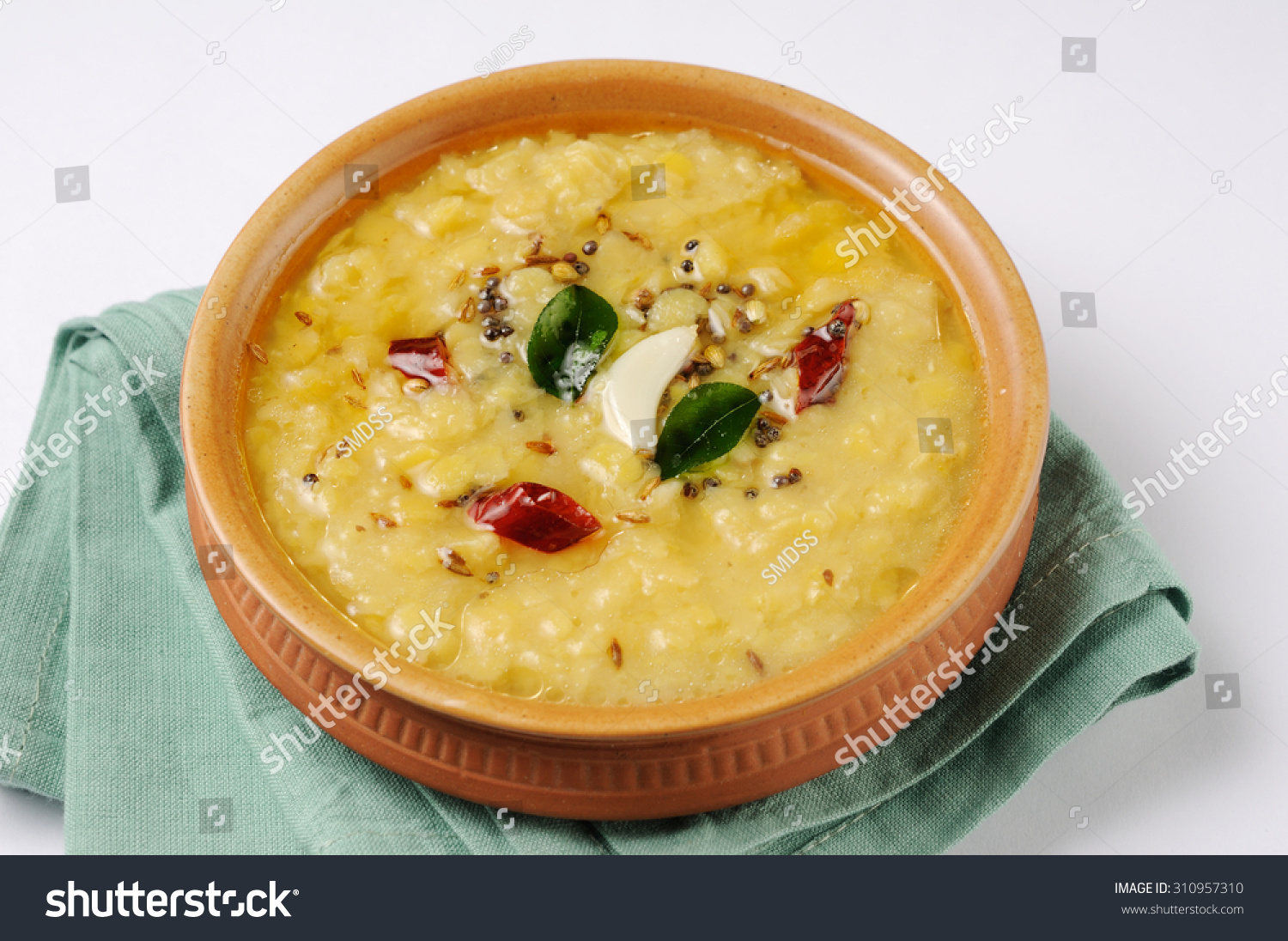 Indian Dish Tarka Daldaal Currytraditional Indian Stock Foto ...