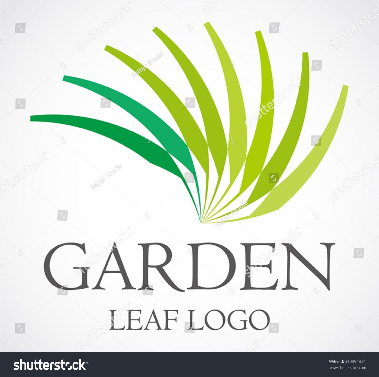 leaf garden green curve abstract vector stock vector