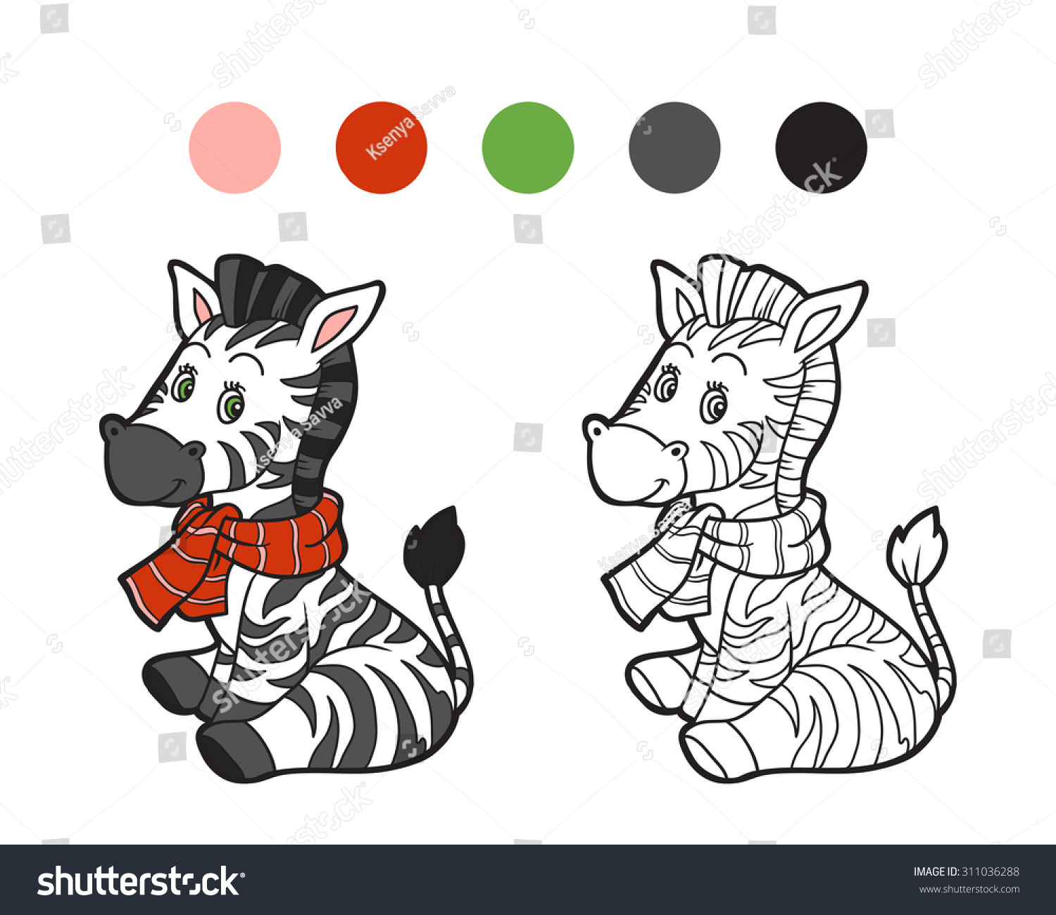 Uncategorized Zebra Game coloring book christmas winter zebra game stock vector 311036288 for children